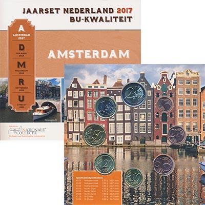 Изображение Подарочные монеты Нидерланды Набор 2017 года 2017  UNC Набор из восьми моне
