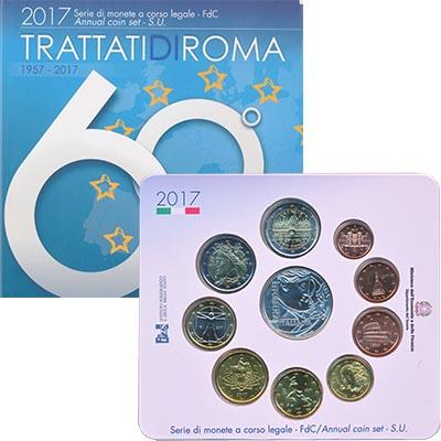 Изображение Подарочные монеты Италия Набор 2017 года 2017  UNC В набор входят восем