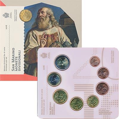 Изображение Подарочные монеты Сан-Марино Набор 2016 года 2016  UNC