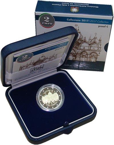 Изображение Подарочные монеты Италия Собор Святого Марка 2017 Биметалл Proof