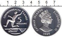 Изображение Монеты Каймановы острова 5 долларов 1986 Серебро Proof Елизавета II.  XIII
