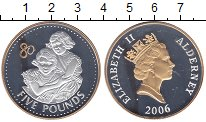 Изображение Монеты Олдерни 5 фунтов 2006 Серебро Proof