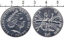 Изображение Монеты Великобритания 1 фунт 2011 Серебро UNC