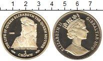 Изображение Монеты Гибралтар 1 крона 2000 Серебро Proof Елизавета II.  Корол