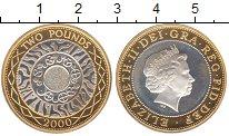 Изображение Монеты Великобритания 2 фунта 2000 Серебро UNC Елизавета II.