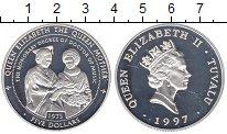 Изображение Монеты Тувалу 5 долларов 1997 Серебро Proof Елизавета II.  Корол