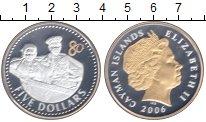 Изображение Монеты Каймановы острова 5 долларов 2006 Серебро Proof Позолота.  Елизавета