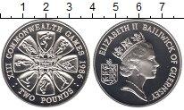 Изображение Монеты Гернси 2 фунта 1986 Серебро Proof Елизавета II.  XIII