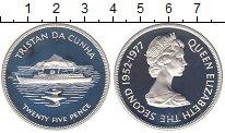 Изображение Монеты Тристан-да-Кунья 25 пенсов 1977 Серебро Proof Елизавета II.  25 -