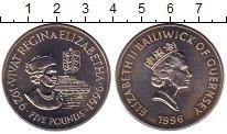 Изображение Монеты Великобритания Гернси 5 фунтов 1996 Медно-никель UNC-