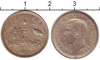 Изображение Монеты Австралия 6 пенсов 1951 Серебро XF+