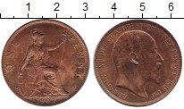 Изображение Монеты Великобритания 1 пенни 1902 Бронза XF+ Эдуард VII