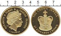 Изображение Монеты Теркc и Кайкос 5 крон 2004 Медно-никель Proof