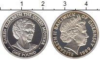 Изображение Монеты Гернси 1 фунт 1999 Серебро Proof Елизавета II.  Корол