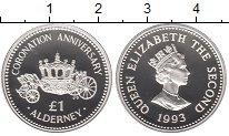 Изображение Монеты Олдерни 1 фунт 1993 Серебро Proof
