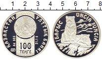 Изображение Подарочные монеты Казахстан 100 тенге 2009 Серебро Proof <br>Барс<br>Оригинал