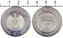 Изображение Монеты Германия 10 евро 2006 Серебро UNC A.Чемпионат  мира  п