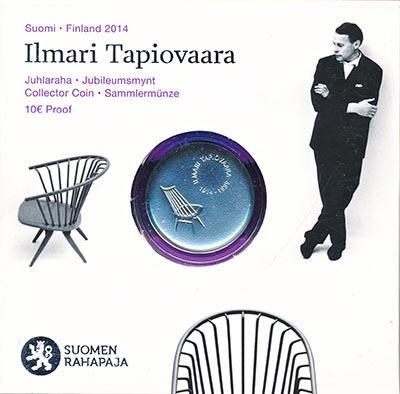 Изображение Подарочные наборы Финляндия Илмари Тапиоваара 2014 Серебро Proof Монета номиналом 10