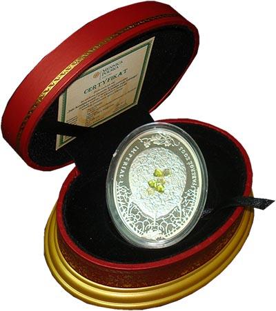 Изображение Подарочные монеты Ниуэ Яйца Фаберже 2010 Серебро Proof
