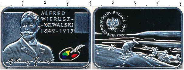 Картинка Подарочные монеты Польша Художники Польши Серебро 2015