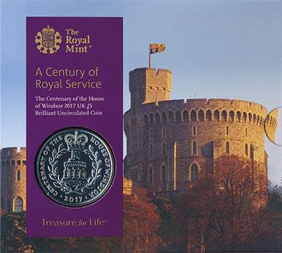 Изображение Подарочные монеты Великобритания Виндзорская династия 2017 Медно-никель BUNC Монета номиналом 5 ф