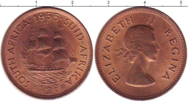 Картинка Монеты ЮАР 1/2 пенни Бронза 1955