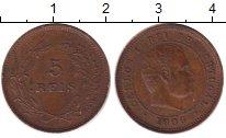 Изображение Монеты Португалия 5 рейс 1908 Бронза XF Карлос I
