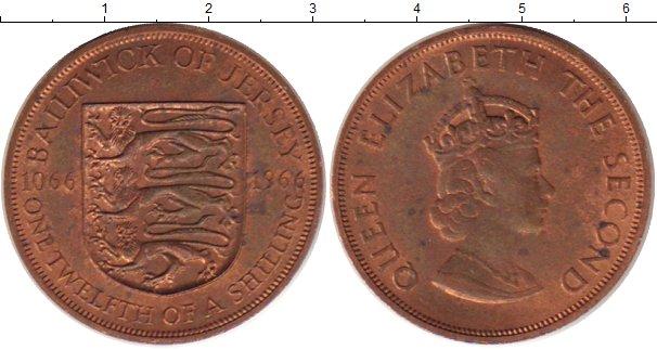 Картинка Монеты Остров Джерси 1/12 шиллинга Бронза 1966