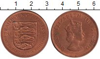 Изображение Монеты Великобритания Остров Джерси 1/12 шиллинга 1966 Бронза UNC-