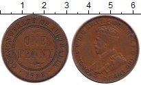 Изображение Монеты Австралия 1 пенни 1933 Бронза XF Георг V