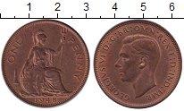 Изображение Монеты Великобритания 1 пенни 1948 Бронза UNC