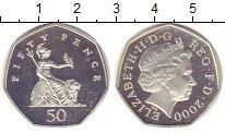 Изображение Монеты Великобритания 50 пенсов 2000 Серебро Proof-