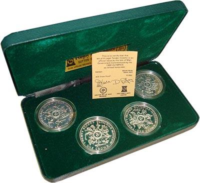 Изображение Подарочные наборы Остров Мэн Олимпиады 1980 года 1980 Серебро Proof