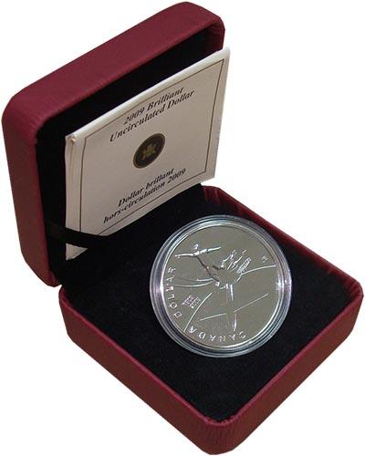 Изображение Подарочные монеты Канада 1 доллар 2009 Серебро BUNC Подарочная монета по