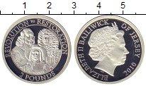 Изображение Монеты Остров Джерси 2 фунта 2010 Серебро Proof-