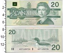 Изображение Боны Канада 20 долларов 1991  UNC