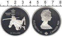Изображение Монеты Канада 20 долларов 1986 Серебро Proof- Олимпиада 88. Биатло