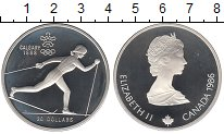 Изображение Монеты Канада 20 долларов 1986 Серебро Proof- Олимпиада 88. Лыжный
