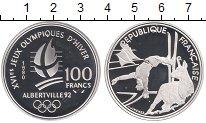 Изображение Монеты Франция 100 франков 1990 Серебро Proof- Олимпиада 92. Альбер