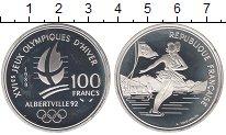 Изображение Монеты Франция 100 франков 1989 Серебро Proof- Олимпиада 92. Альбер