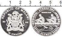 Изображение Монеты Малави 10 квач 2003 Серебро Proof-