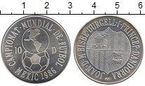 Изображение Монеты Андорра 10 динерс 1986 Серебро UNC-