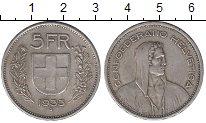 Изображение Монеты Швейцария 5 франков 1933 Серебро XF
