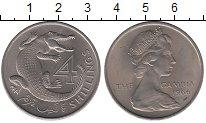 Изображение Монеты Гамбия 4 шиллинга 1966 Медно-никель UNC-