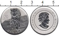 Изображение Монеты Канада 20 долларов 2013 Серебро UNC- Елизавета II.  Волк