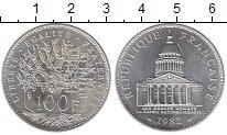 Изображение Монеты Франция 100 франков 1982 Серебро UNC
