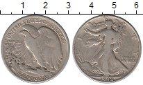 Изображение Монеты США 1/2 доллара 1942 Серебро VF