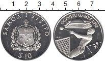 Изображение Монеты Самоа 10 долларов 1992 Серебро Proof- Олимпиада 92. Метани