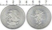 Изображение Монеты Мексика 25 песо 1968 Серебро UNC Олимпиада 68