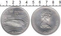 Изображение Монеты Канада 10 долларов 1976 Серебро UNC Елизавета II.  Олимп